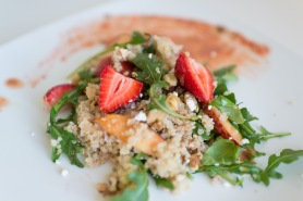 strawberry peach quinoa salad